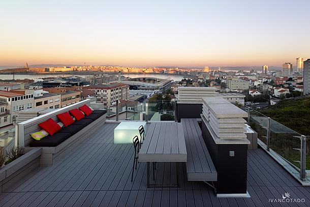Ático con terraza - Iván Cotado Diseño de Interiores